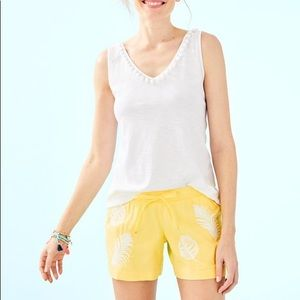 NWT katia shorts yellow fiesta embroidery